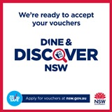 We accept Dine and Disdcover Vouchers