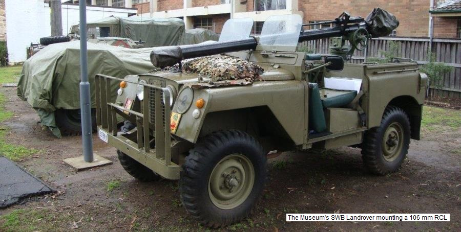 106 mm RCL Landrover