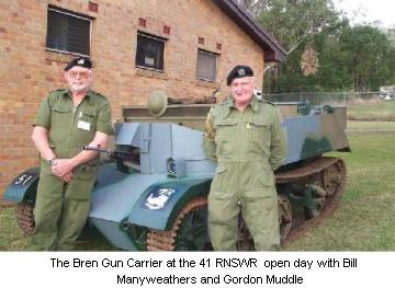 The Bren Gun Carrier at the 41 RNSWR open day with Bill Manyweathers and Gordon Muddle