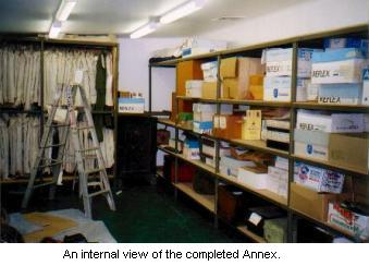 An internal view of the completed Annex.