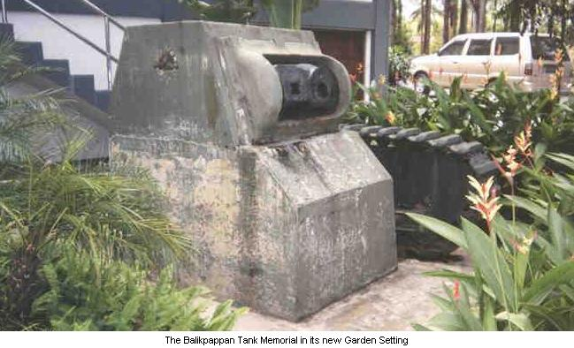 The Balikpappan Tank Memorial in its new Garden Setting