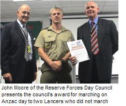 Those who did not march get an award