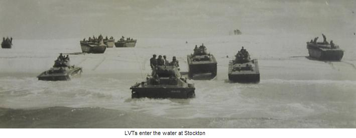 LVTs in the Water at Stockton