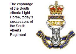 South Alberta Light Horse CapBadge