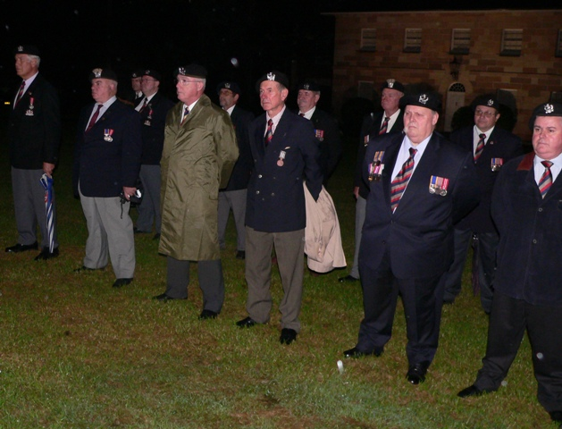 Lancers at the ANZAC Eve Ceremony