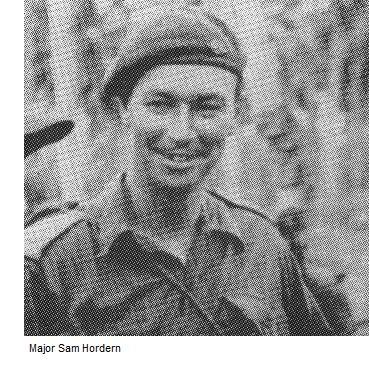 Major Sam Hordern at Sattelberg New Guinea