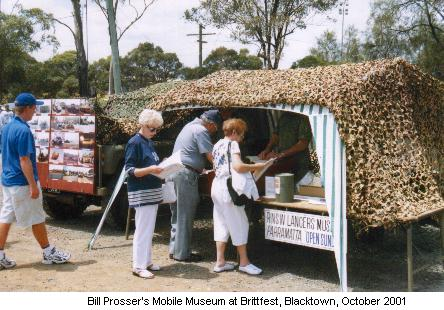 Bill Prosser's Mobile Museum at Brittfest, Blacktown, October 2001