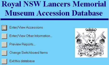 The accession database