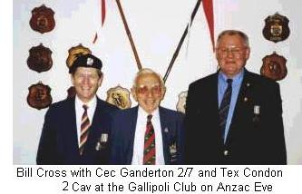 Cec Ganderton at the Gallipoli Club