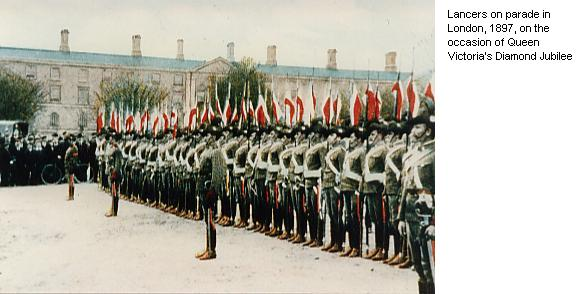 Lancers on parade in London, 1897, on the occasion of Queen Victoria's Diamond Jubilee