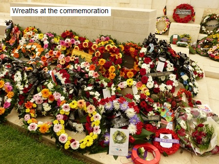 Wreaths at the Commemoration
