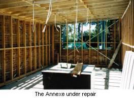 The Annexe under repair