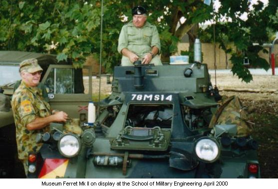 Museum Ferret Mk II on display at the School of Military Engineering April 2000