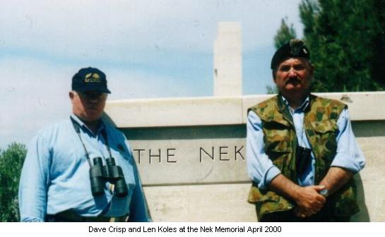 Dave Crisp and Len Koles at the Nek Memorial April 2000